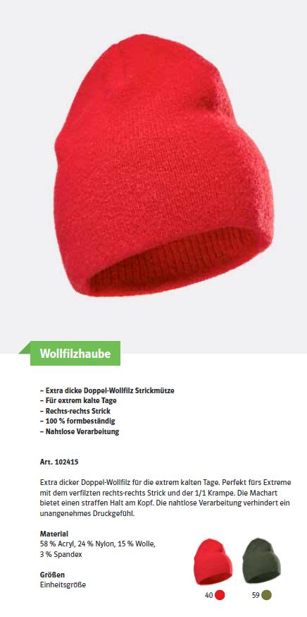 pfanner wollfilzhaube oliv edenhofner 24. Black Bedroom Furniture Sets. Home Design Ideas