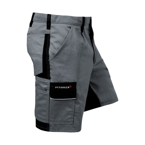 PFANNER StretchZone Canvas Shorts grau-schwarz