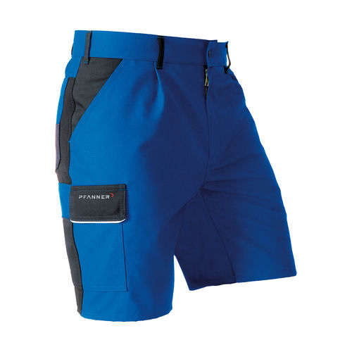PFANNER StretchZone Canvas Shorts blau-schwarz