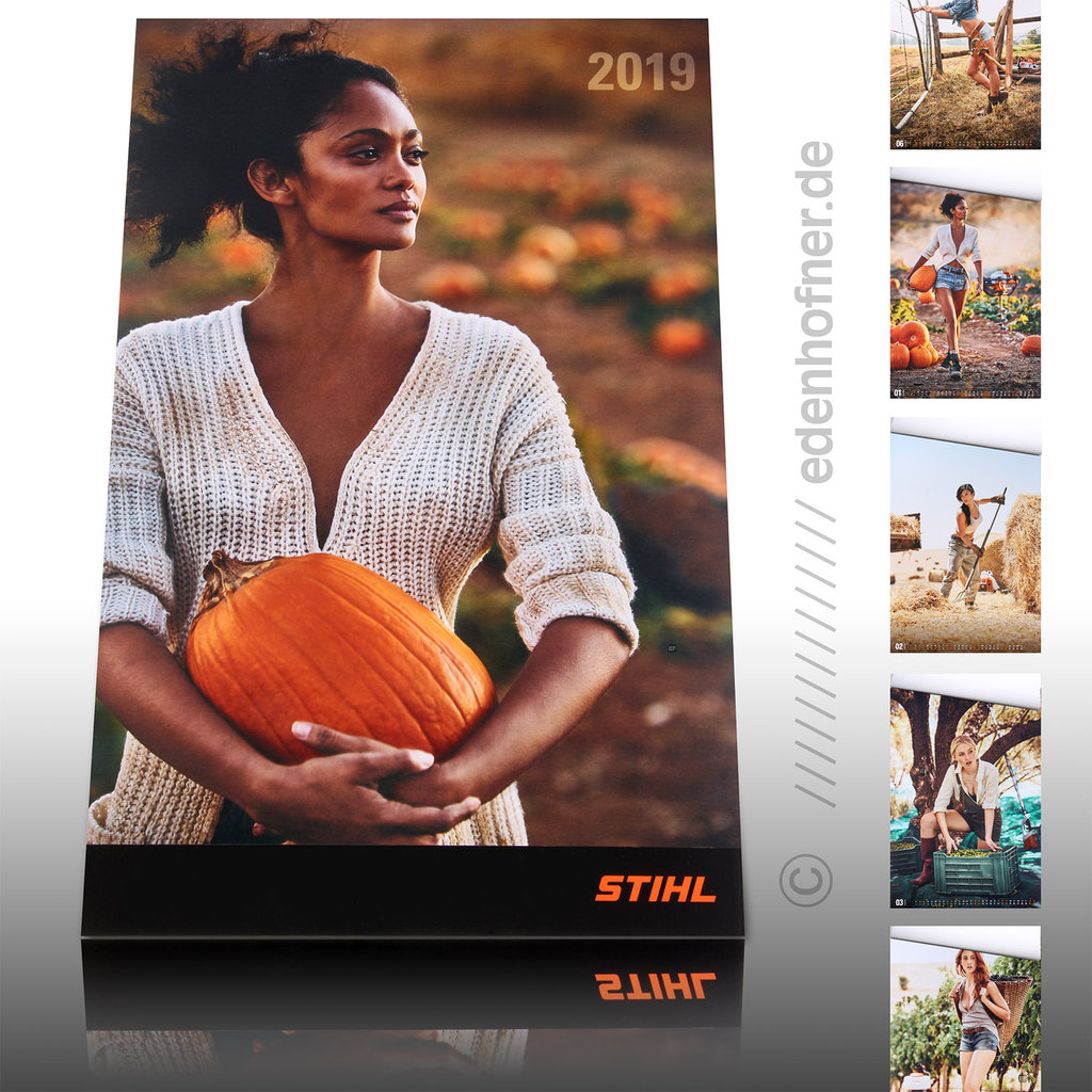 stihl wandkalender 2019 edenhofner 24. Black Bedroom Furniture Sets. Home Design Ideas