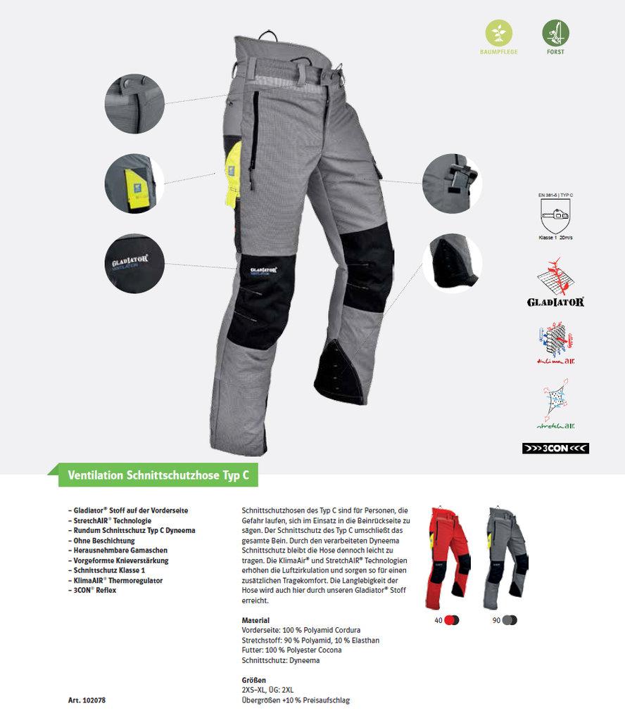 Pfanner Ventilation Schnittschutzhose Grau Gladiator Schnittschutz Hose Forst Agrar, Forst & Kommune Arbeitskleidung & -schutz