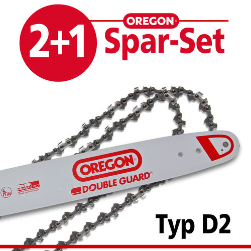 Spar-Set 2+1 Oregon DOUBLE-GUARD Typ D2 für DOLMAR